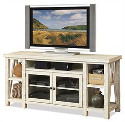 TV Cabinet in Weathered Worn White Finish
