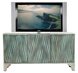 TV Console in Sandy Teal Finish