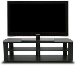 tv console stand entertainment media black center