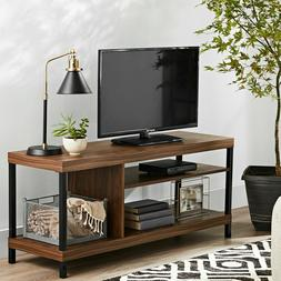 "TV Console Stand Wood 45"" Entertainment Media Storage Center"