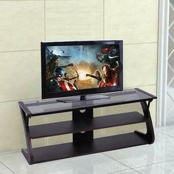 Tangkula Universal TV Stand 3-Tire TV Stand Storage Console