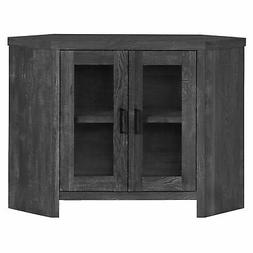 "Monarch Specialties TV STAND - 42""L / BLACK RECLAIMED WOOD-L"