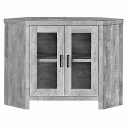 "Monarch Specialties TV STAND - 42""L / GREY RECLAIMED WOOD-LO"