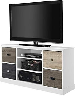 Tv Stand For Flat Screens Premium Rustic White Wood Console