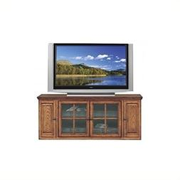 "Bowery Hill 62"" TV Stand with Storage in Burnished Oak Finis"