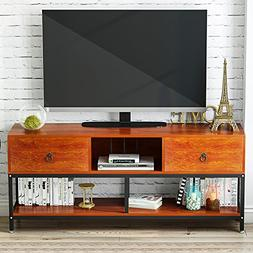 "LITTLE TREE TV Stand, 60"" Large Entertainment Center with Dr"