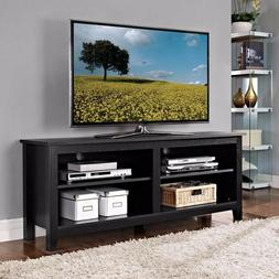 tv stand black entertainment center classic wood