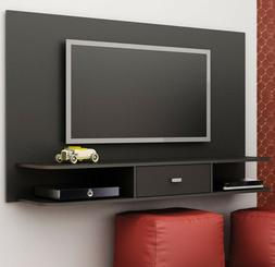 """TV Stand Black Floating Shelf Wall Mounted Unit 65 """" Screen"""