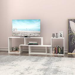 DEVAISE TV Stand / 2 Pieces Bookcase / Bookshelf