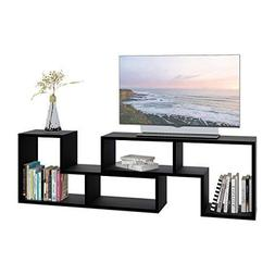 "DEVAISE 0.94"" Thk TV Stand, Modern Entertainment Center Medi"