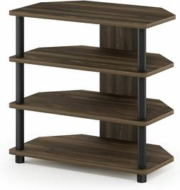 TV Stand Entertainment Center 4-Tier Hold up to 25 inch Colu
