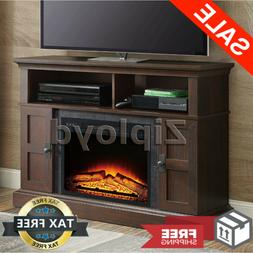 TV Stand Entertainment Center Electric Fireplace Heater Remo
