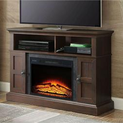 tv stand entertainment center electric fireplace heater