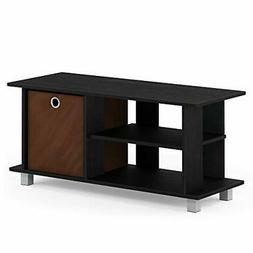 TV Stand Entertainment Center With Bin Drawers Espresso Home