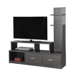 TV Stand in Gray with Display Tower