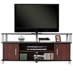 TANGKULA Universal TV Stand Wood TV Media Stand Storage Cons
