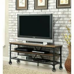 "Bowery Hill 54"" TV Stand in Medium Oak"