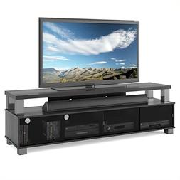 "BOWERY HILL 75"" TV Stand in Ravenwood Black"