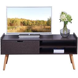 "DlandHome TV Stand WF-TVG002BW, 2-Shelf & 1-Drawer, 46"" Ente"