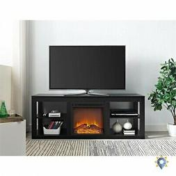 Tv Stand With Fireplace Electric Storage Solid Wood Entertai