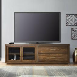 "TV Stand with Tempered Glass Doors up to 80"" Entertainment C"