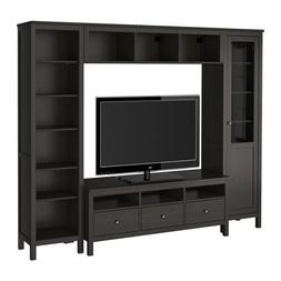Ikea TV storage combination, black-brown 6204.21117.3830