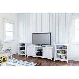 Nexera Vice Versa 3 Piece Entertainment Set in White with Au