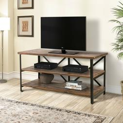 vintage industrial tv stand console entertainment center