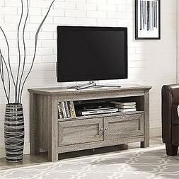 Walker Edison 44 inches Cortez TV Stand Console, Driftwood