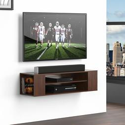 Wall Mount Media Console TV Entertainment Center Audio Cabin