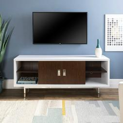 WE Furniture Mid Century Modern Wood Stand for TV's up to 66