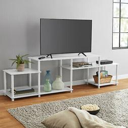 White TVs Up To 52 Stand Home Entertainment Center No-Tools