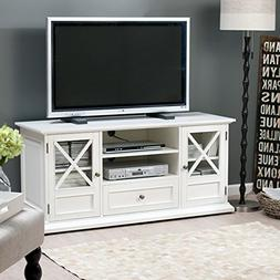 "TV Console Stands 55"" White Wood Livingroom Furniture Storag"