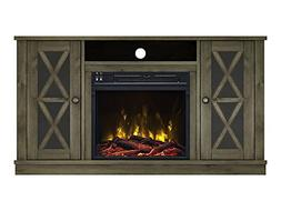 Willis Electric Fireplace Media Console in Spanish Gray - 18