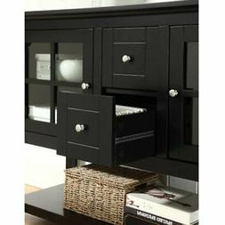 52 in. Wood Console Table TV Stand