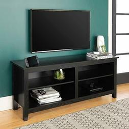 58 in. Wood TV Console - Black