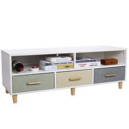 Lifewit Wood TV Stand TV Storage Console Contemporary Entert