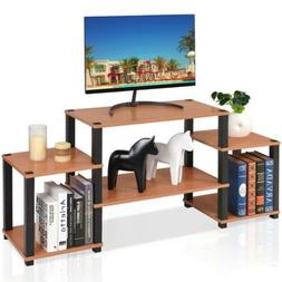 Wood TV Stand Entertainment Center Media Storage Cabinet Con