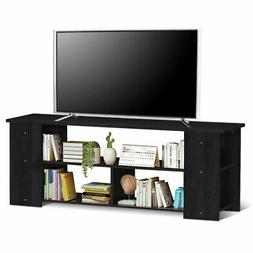 Wood TV Stand Media Game Console Storage Cabinet Entertainme