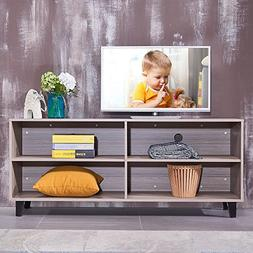 "soges 58.3"" Wood TV Stand Media Storage Console Entertainmen"