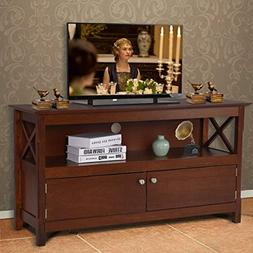 Tangkula Wood TV Stand Modern Multipurpose Home Furniture St