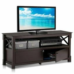 go2buy X-Shape Wood TV Stand Media Console Cabinet Home Ente